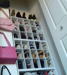 New Purse Organization Closet Clutter 44 Ideas Organizing Purses In Closet, Small Closet Organization, Purse Organization, Organizing Wardrobe, Clutter Organization, Closet Shelves, Entryway Storage, Shoe Storage, Storage Ideas