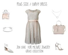 """Plus Size/Curvy Dress"" by jessicasanderstx ❤ liked on Polyvore featuring Studio 8, Chinese Laundry, Fendi, Ava & Aiden, Guerlain and jenchaeformejuri"