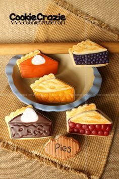 pie shaped decorated cookies - Google Search