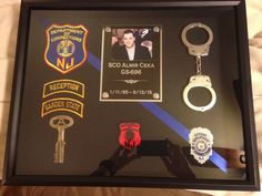 NJDOC Correction Officer shadow box, Sco Almir Ceka