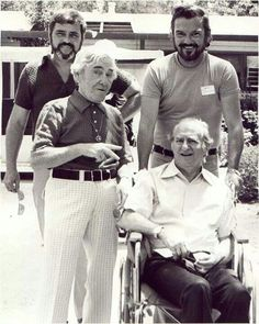 Moe and larry of the three stooges towards the end