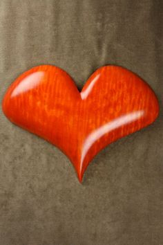 Orange Heart Wood Carving, Personalized Wedding Gift for Bride, Anniversary Gift by Gary Burns the Treewiz, Wooden Art Handmade in Oregon via Etsy I Love Heart, Happy Heart, Personalized Christmas Gifts, Personalized Wedding, Wooden Hearts, Wooden Jewelry, Heart Art, Wedding Anniversary Gifts, Bride Gifts
