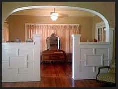 Craftsman inspired room partitions