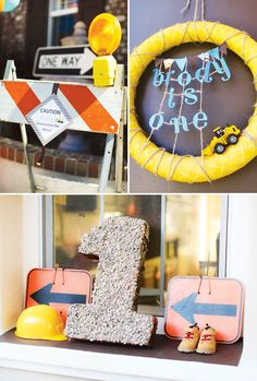 Construction First Birthday Party