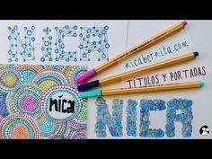 Cómo hacer títulos y portadas para cuadernos y agendas. ¡Decora tus libretas! - YouTube