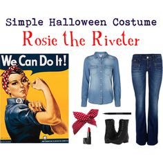 rosie the riveter halloween costume by fandomfashions42 on polyvore - Rosie The Riveter Halloween Costume