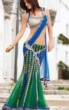 Indian Lehenga Choli Collection Of Sarees Lehenga Style ready to go. Choose the color, design and fabric variety. Lengha Choli, Indian Lehenga, Indian Beauty Saree, Blue Lengha, Green Lehenga, India Fashion, Asian Fashion, Indian Dresses, Indian Outfits