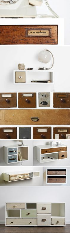 Schubladen woonblog 01-Cool! Old Drawers in new setting!