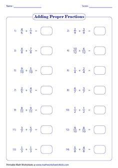 fractions worksheets - Szukaj w Google