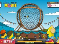 The Simpsons Ball Of Death - An old game we discovered on our travels. Help Homer ride his motor cycle in the Ball Of Death!