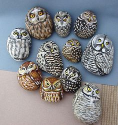 Nobody will really notice that these beautiful owls are painted on rocks. Be serious about this and create the best art project.