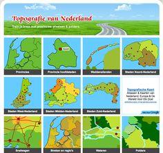 Topgrafie van Nederland; overzicht Map Globe, Netherlands, Holland, Classroom, Learning, Country, World, Fun, Kids