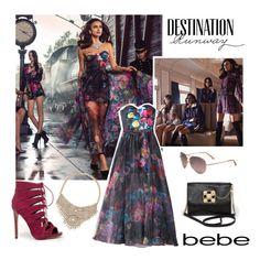 """""""Destination Runway with Bebe"""" by bebe ❤ liked on Polyvore featuring Bebe"""
