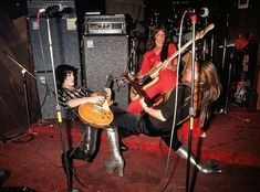 The Runaways on stage at CBGB's in August 1976 Photo by Richard E. Aaron Joan Jett, Sandy West, Cherie Currie, Lita Ford, Iggy Pop, Patti Smith, Rockn Roll, Ramones, Girl Bands
