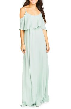 Show Me Your Mumu Caitlin Convertible Ruffle Bodice Chiffon Gown available at #Nordstrom