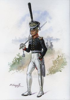 Prussia; Infantry Regiment Kaiser Alexander, Officer, c.1830 by PCourcelle