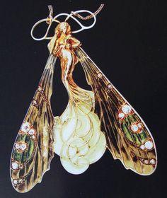 Rene Lalique Art Nouveau | Collana con pendente, in oro e smalto, del 1899-1900 c.a (presente ...