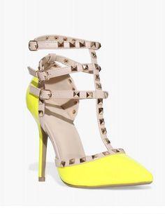 Adora Lime Pumps - Trendslove
