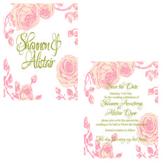 Antique Rose Wedding Save the Date Cards - Custom Printed