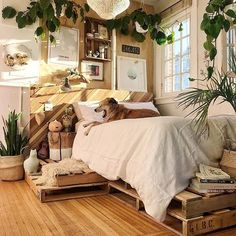 The country way of life is extremely relaxing. As well as it would certainly profit you to have a rustic bedroom design. That being stated, right here are Rustic Bedroom Ideas. Deco Studio, Aesthetic Bedroom, Dream Rooms, My New Room, House Rooms, Cozy House, Bedroom Decor, Ikea Bedroom, Cozy Bedroom