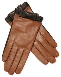 ebd278115 Bow-Accented Leather Gloves Kate Spade, Men's Fashion, New Mens Fashion,  Winter