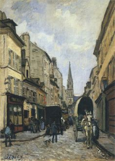 Main Street in Argenteuil by Alfred Sisley  Size: 65x46 cm  Medium: oil on canvas