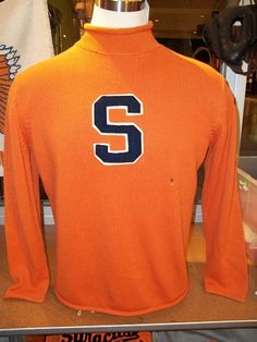 Preppy Orange Syracuse Rollneck Sweater from The Vault