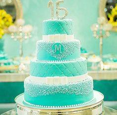 67 Ideas For Birthday Cake Ideas Sweet 16 Tiffany Blue 13th Birthday Cake For Girls, 15th Birthday Cakes, Elegant Birthday Cakes, Girl Birthday, Gorgeous Cakes, Amazing Cakes, Tiffany Sweet 16, Tiffany Blue, My Dream Cake