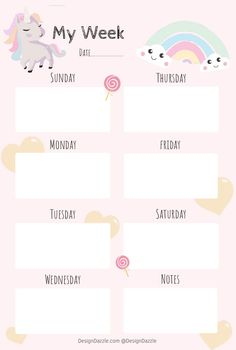 I'm sharing a darling Unicorn Planner (it's free & it's really cute). A basic planner like this one is a great way to begin teaching time management skills. To Do Planner, Study Planner, Cute Planner, Planner Book, Kids Planner, College Planner, College Tips, Weekly Planner Printable, Planner Template