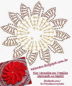 ergahandmade: Crochet Rug + Diagrams ergahandmade: Crochet Rug + Diagrams Learn the rudiments of how Crochet Diy, Crochet Flower Tutorial, Form Crochet, Crochet Instructions, Crochet Diagram, Crochet Chart, Crochet Squares, Crochet Leaves, Crochet Mandala