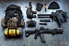 The Viking Minuteman; the Vector SMG and LVOA rifle; awesome weapons, but I haven't seen the LVOA offered in yellow yet.