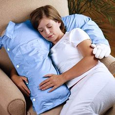 Boyfriend pillow is a perfect pillow for any bed. The boyfriend pillow provides firm sleeping support and it's great for snuggling. You can use this pillow as a body pillow or as a neck roll.