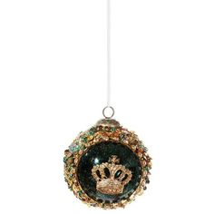 Shishi As Crown embellished sequin Christmas ornament (365 CZK) ❤ liked on Polyvore featuring home, home decor, holiday decorations, crown christmas tree ornaments, holiday home decor, christmas ornaments and colorful christmas ornaments