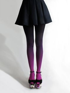 Soft fading Ombre tights...