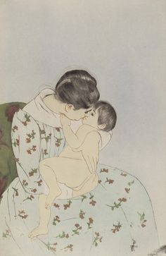 Mother's Kiss by Mary Cassatt from National Gallery of Art Washington DC