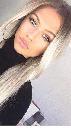 hair hair makeup Makeup Tips for Medium Skin Ombre Hair, Balayage Hair, Hair Inspo, Hair Inspiration, Beauté Blonde, Pinterest Hair, Gorgeous Hair, Beautiful Eyelashes, Amazing Hair