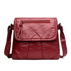 Soft-Washed Crossbody Handbag