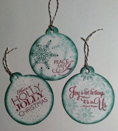 Holiday tags. Stamped + cut with CTMH Art Philosophy Cart for The Cricut. #ctmh #tag #christmas #holiday