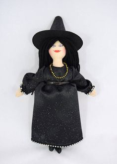 Witch Doll  Halloween Witch  Art Doll  Toy  Halloween