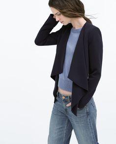 Image 3 of ZIP LAPEL JACKET from Zara