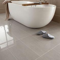 Regal porcelain from Topps Tiles | Bathroom flooring ideas - 10 best | housetohome.co.uk