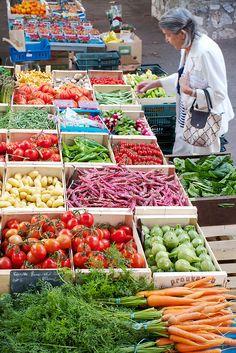 Market at Beaulieu sur Mer, France. Photo © Millie Brown