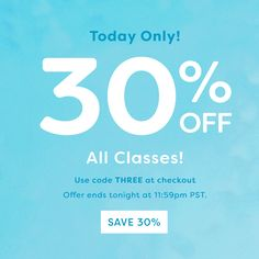 Yo, Shorty — Its Our Birthday! Lets Celebrate With 30% Off ALL Classes via Brit + Co