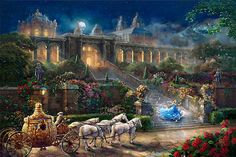 Thomas Kinkade Clock Strikes Midnight Cross Stitch Pattern***L@@K*** by LONE WOLF CROSS-STITCH PATTERNS LOOK, $4.95 USD