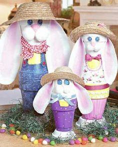 sandylandya@outlook.es  crafting with clay pots | CLAY POT CRAFTS / Bunny Daddy Clay Pot