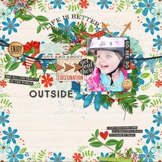 layout by *Cornelia* credits: Remember Those Days 7 by TwoTiny Turtles The Great Outdoors - Escape by Kristin Cronin-Barrow Tiny Turtle, Scrapbook Templates, Some Times, Creative Inspiration, The Great Outdoors, Turtles, Digital Scrapbooking, The Outsiders, Beautiful Places