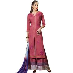 Readymade Stitched Palazzo Printed Pants Cotton Salwar Kameez