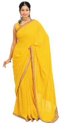 Sari - the apparel that covers all.yet reveals all, Learn How to drape an Indian Sari, different types of blouses Floor Length Gown, Indian Attire, Sari, Gowns, Traditional, Yellow, Fashion, Templates, Saree