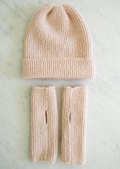 Hat + Hand Warmers for Beginners | The Purl Bee