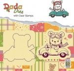 "DDCS002 DADA Die with clear stamps set ""bear with car"""